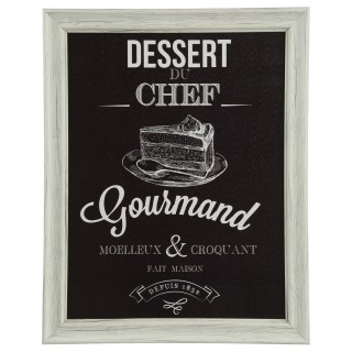 Cadre Chef - 40 x 50 cm - Dessert