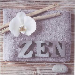 Toile imprimée Zen romance - 28 x 28 cm - Zen fleur blanche