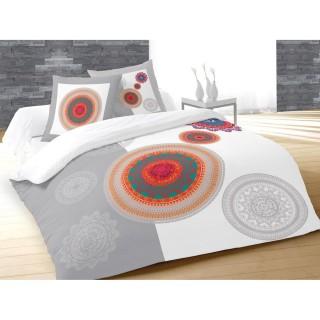 Housse de couette et 2 taies d'oreiller Fantasy - 220 x 240 - 100% Coton