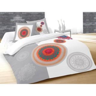 Housse de couette et 2 taies d'oreiller Fantasy - 240 x 260 - 100% Coton