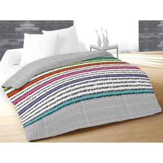 Couette imprimée Facette Blanc - 220 x 240