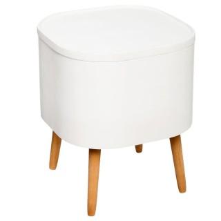 Table à café coffre Zael - Blanc
