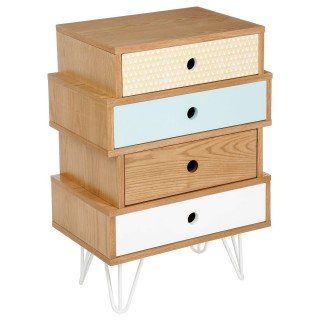Commode 4 tiroirs Shulg - Multicolore