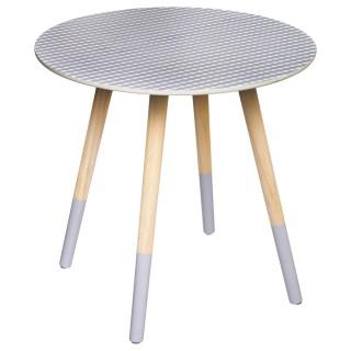 Table de Café Mileo - Diam. 48 cm - Gris clair