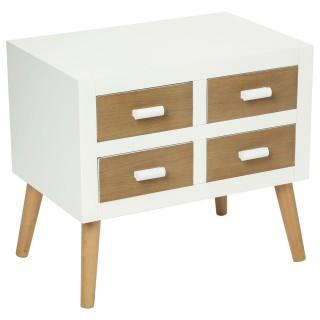 Commode 4 tiroirs Helga - Blanc