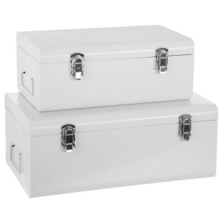 2 malles rectangulaires Cantine - Blanc