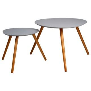 2 tables Café Mileo - Gris
