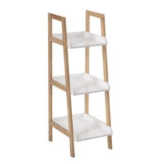 Etagère salle de bain Biseauté - 3 niveaux - Blanc