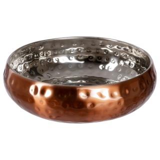Coupelle cuivre Martelé - Diam. 13 cm - Inox