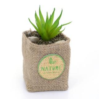 Plante artificielle - Hauteur 12,5 cm - Feuilles allongées et pointues