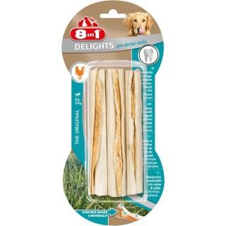3 bâtonnets sticks dental Delights - Viande de Poulet - Taille XS et M