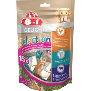 15 Os Select Value Delights - Poulet Boeuf Dental Strong - Taille XS