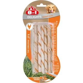 10 bâtonnets Twisted Sticks - Viande de Poulet - Taille XS