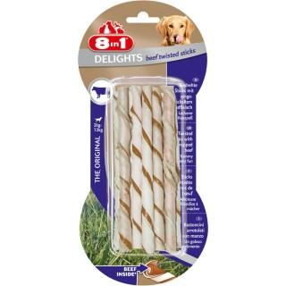 10 bâtonnets Twisted Sticks - Viande de Boeuf - Taille XS