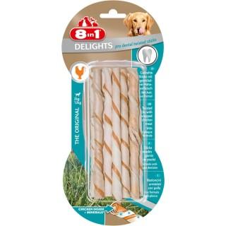 10 bâtonnets Twisted dental Sticks - Viande de Poulet - Taille XS