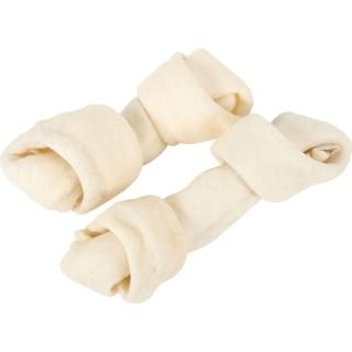 2 Os noués au fluor - Viande 100 % peau de buffle - 16 cm