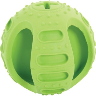 Balle en caoutchouc Bone Ball - Diam. 7,5 cm - Vert
