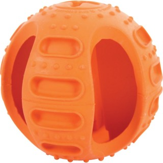 Balle en caoutchouc Bone Ball - Diam. 9,5 cm - Orange
