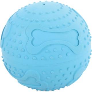 Balle en caoutchouc Treat Ball - Diam. 7,5 cm - Bleu