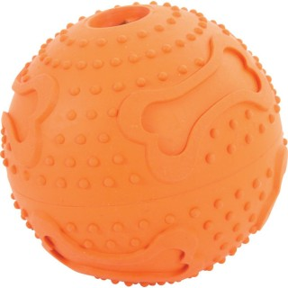 Balle en caoutchouc Treat Ball - Diam. 7,5 cm - Orange