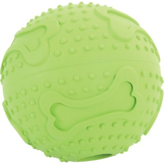 Balle en caoutchouc Treat Ball - Diam. 7,5 cm - Vert