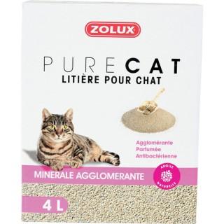 Litière pour chat- Agglomérante parfumé - 4 L