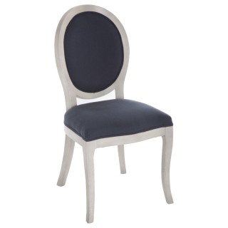 Chaise médaillon Cleon - Bleu marine