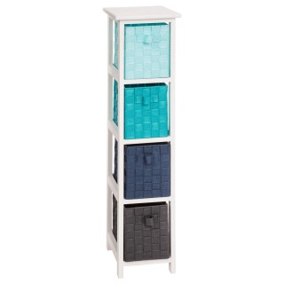 Meuble de rangement 4 tiroirs Aqua B -Taille M - Bleu
