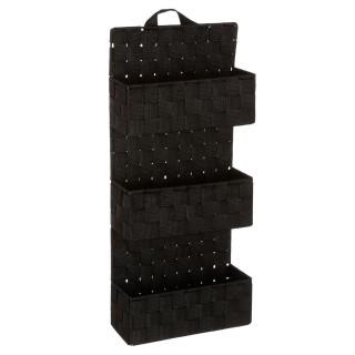 Etagère panier 3 niveaux à suspendre - H. 75 cm - Noir