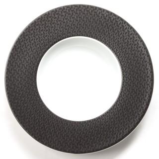 Assiette creuse Demi Lune - Noir