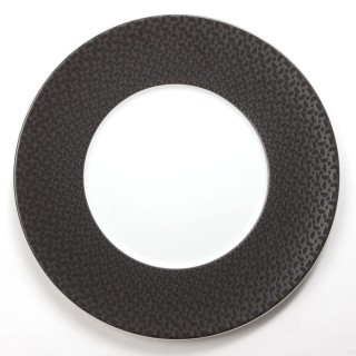 Assiette plate Demi Lune - Noir