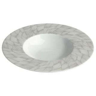 Assiette creuse Feuille - Blanc
