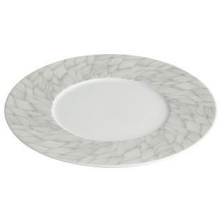 Assiette plate Feuille - Blanc