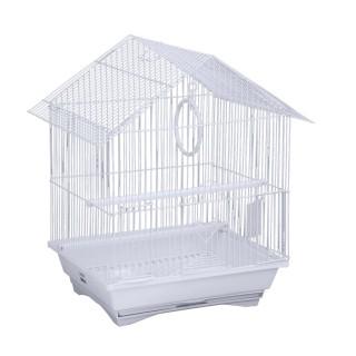 Cage à oiseau - 33 x 26 x 44 cm - Blanc