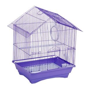 Cage à oiseau - 34 x 28 x 45 cm - Violet