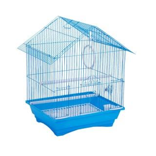 Cage à oiseau - 34 x 28 x 45 cm - Bleu