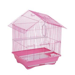 Cage à oiseau - 34 x 28 x 45 cm - Rose