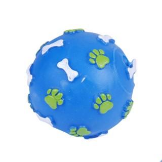 Jouet pour chien - Balle sonore - Bleu