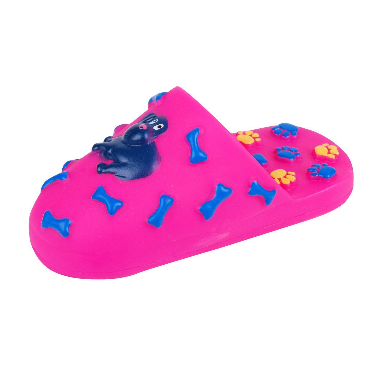 jouet pour chien chausson sonore rose