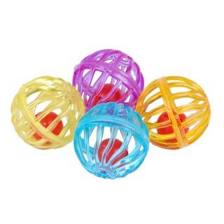 Jouet pour chat - 4 balles sonores - Multicolore