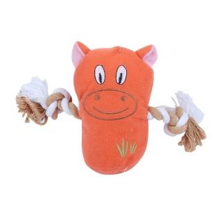 Jouet pour chien - Peluche sonore - Orange