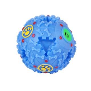 Jouet pour chien - Balle à trous - Bleu