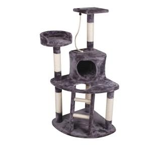 Arbre à chat pour angle - 80 x 70 x 120 cm - Gris
