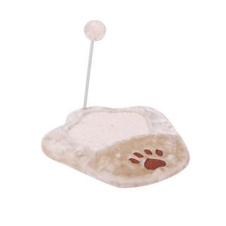 Griffoir pour chat - Balle de jeu - Beige