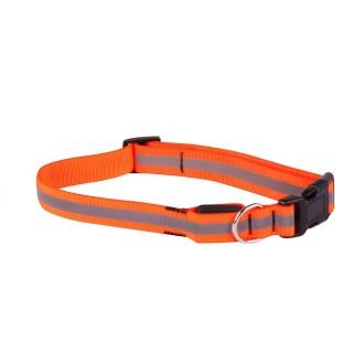 Collier pour chien réfléchissant - Taille M - Orange
