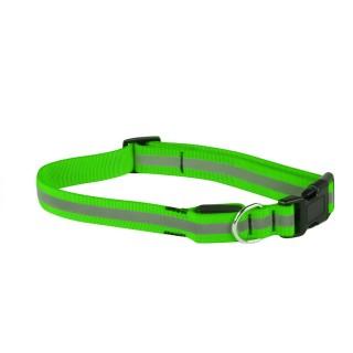 Collier pour chien réfléchissant - Taille L - Vert