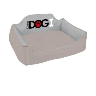 Panier pour chien rembourré Dogi - Taille L - Taupe