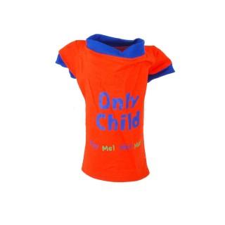 T-shirt pour chien Only Child - Taille S - Orange