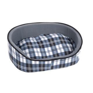 Panier pour chien Ecossais - Taille XS - Bleu
