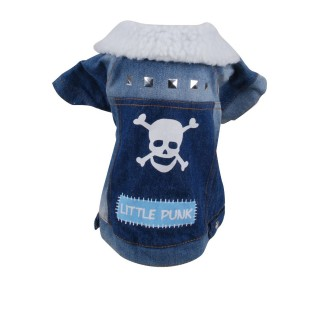 Manteau pour chien Little Punk - Taille L - Bleu